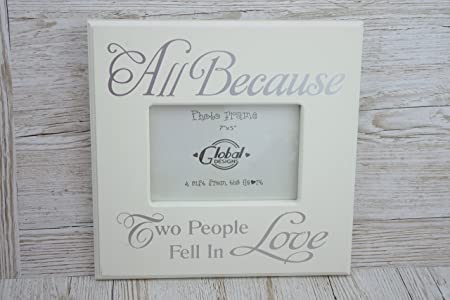 Shabby Chic Cream Wood Photo Frame All Because Two People Fell In ...