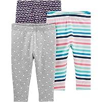 Simple Joys by Carter's Baby and bebé - Leggings para niña (3 Unidades)