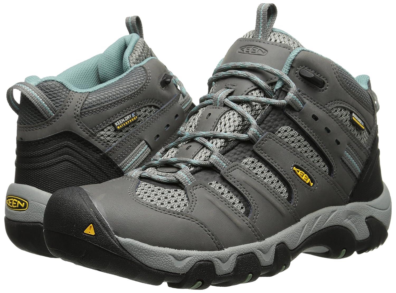 KEEN Women's Koven Mid Hiking Boot B00LH3ODNY 8 B(M) US|Gargoyle/Mineral Blue