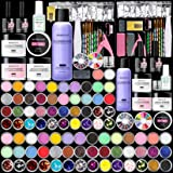 Morovan Acrylic Nails Kit with Acrylic Powder and Liquid Monomer - Complete Acrylic Nails System Basic Nail Art Kit for DIY N