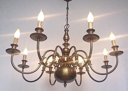 Kronleuchter Antik Groß ~ C15 rewired vintage antik messing kronleuchter lampe deckenleuchte