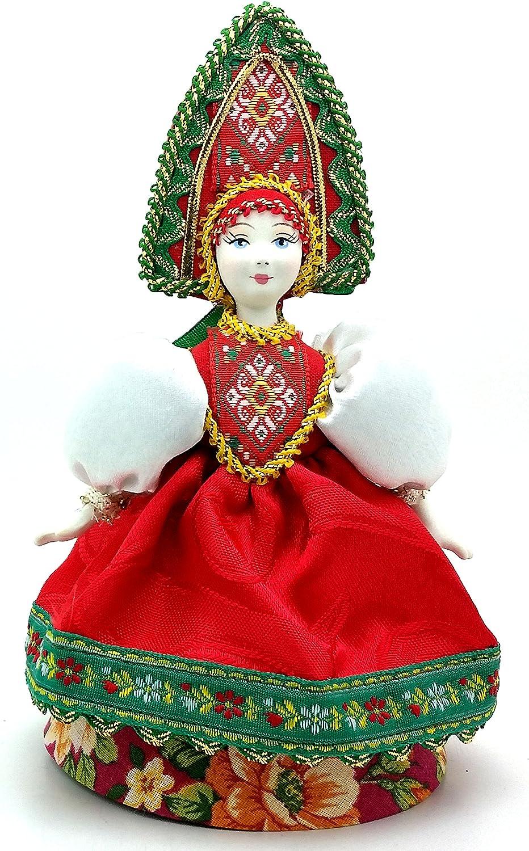 Porcelain art doll Women/'s traditional festive costume Russia Handmade souvenir