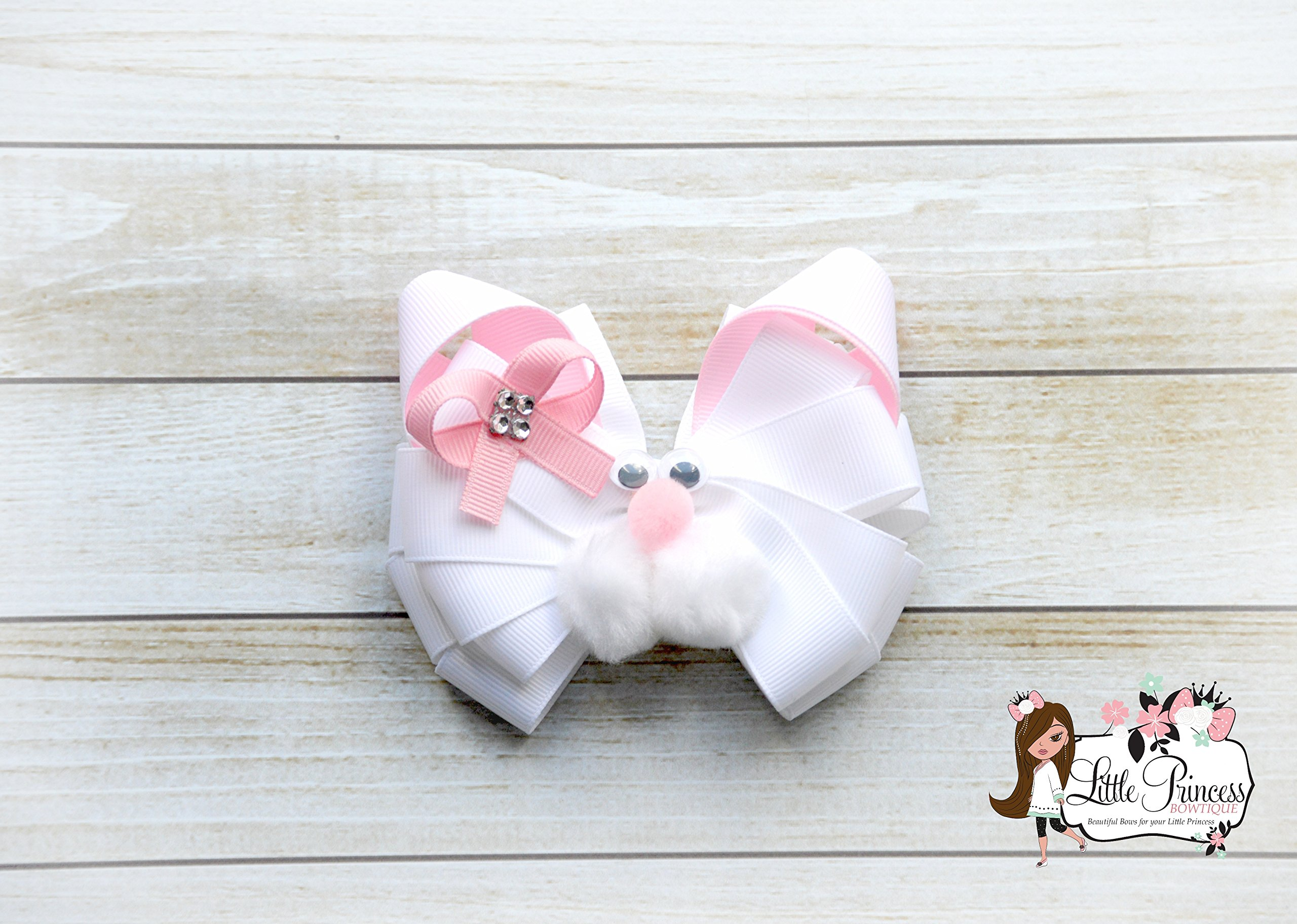 Bunny Hairbow, Rabbit Hairbow, Easter Hairbow
