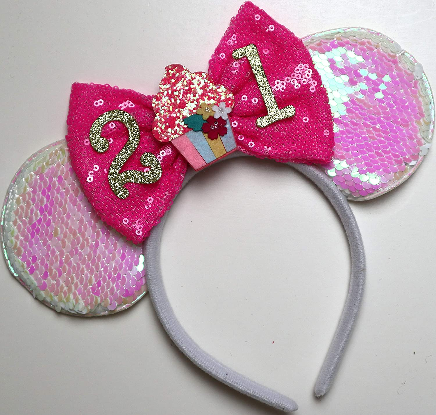 Rainbow Sparkle Mouse Ears,Classic Red Sequin Minnie Ears Iridescent Minnie Ears CLGIFT Rose gold Minnie Ears,Pick your color rose gold and white Silver gold blue minnie ears
