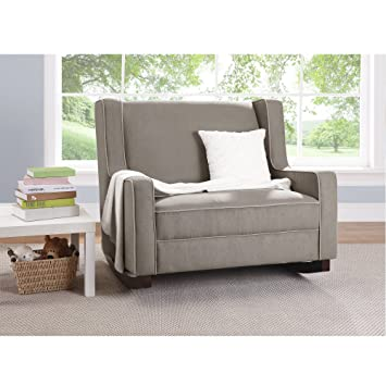 Incroyable Baby Relax Double Rocking Chair Grey Upholstered Couch For Nursery / Living  Room Furniture