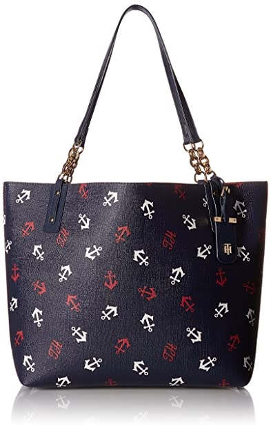 43961bea871 Tommy Hilfiger Tote Bag for Women Gabby, Navy Red  Amazon.co.uk ...