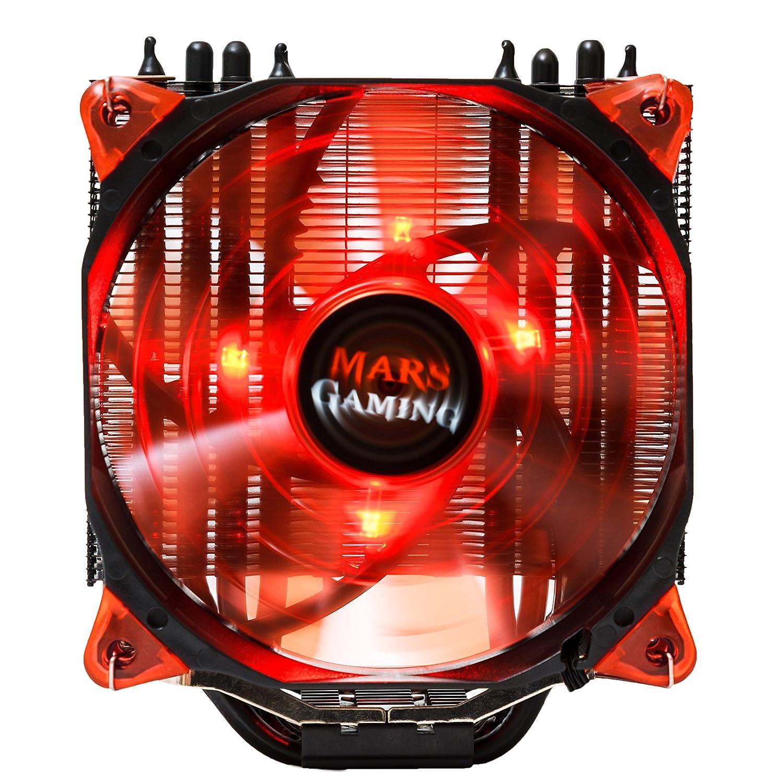Ventilador, refrigeración ordenador rojo, red, pc