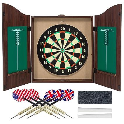 amazon com gameroom dartboard cabinet set with realistic walnut rh amazon com dart board cabinet for sale nz dart board cabinet for sale nz