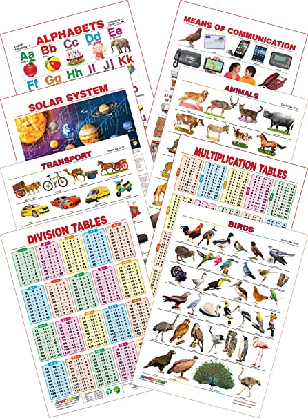 Spectrum Educational Mini Wall Chart Set Of 8 Set 6 English
