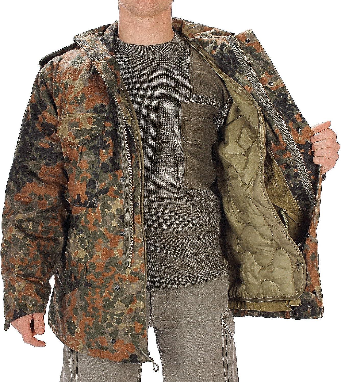 CamoOutdoor Mens Mil-Tec Flecktarn Camouflage M65 Field Jacket Extra Large Green