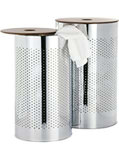metal laundry bin  Amazon.com: Household Essentials 7081-1 Round Metal Laundry Hamper ...