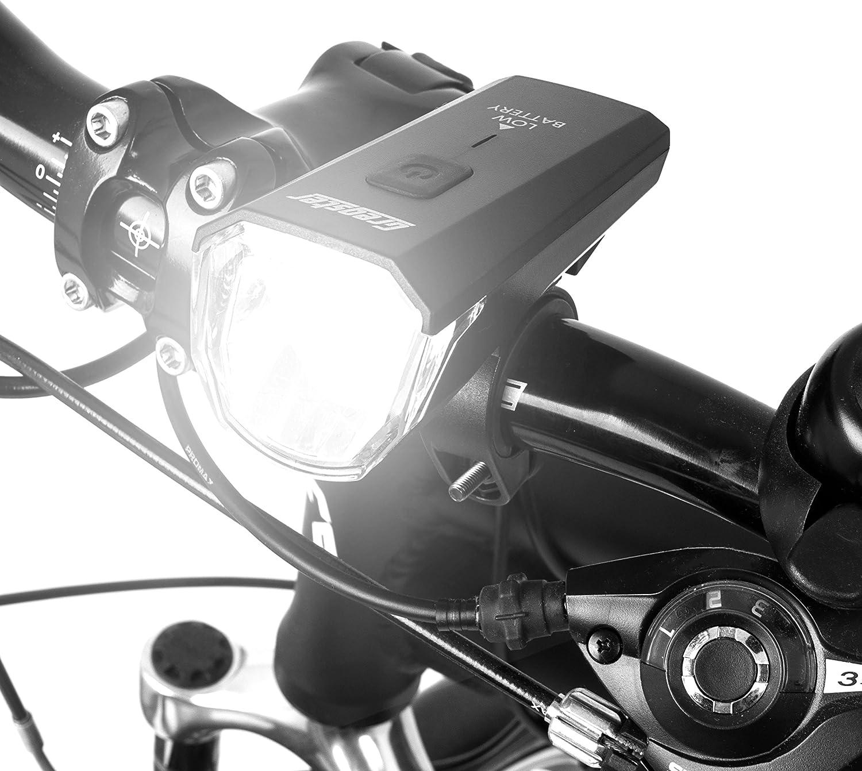Gregster Alumbrado LED para bicicleta, juego de luces para ...