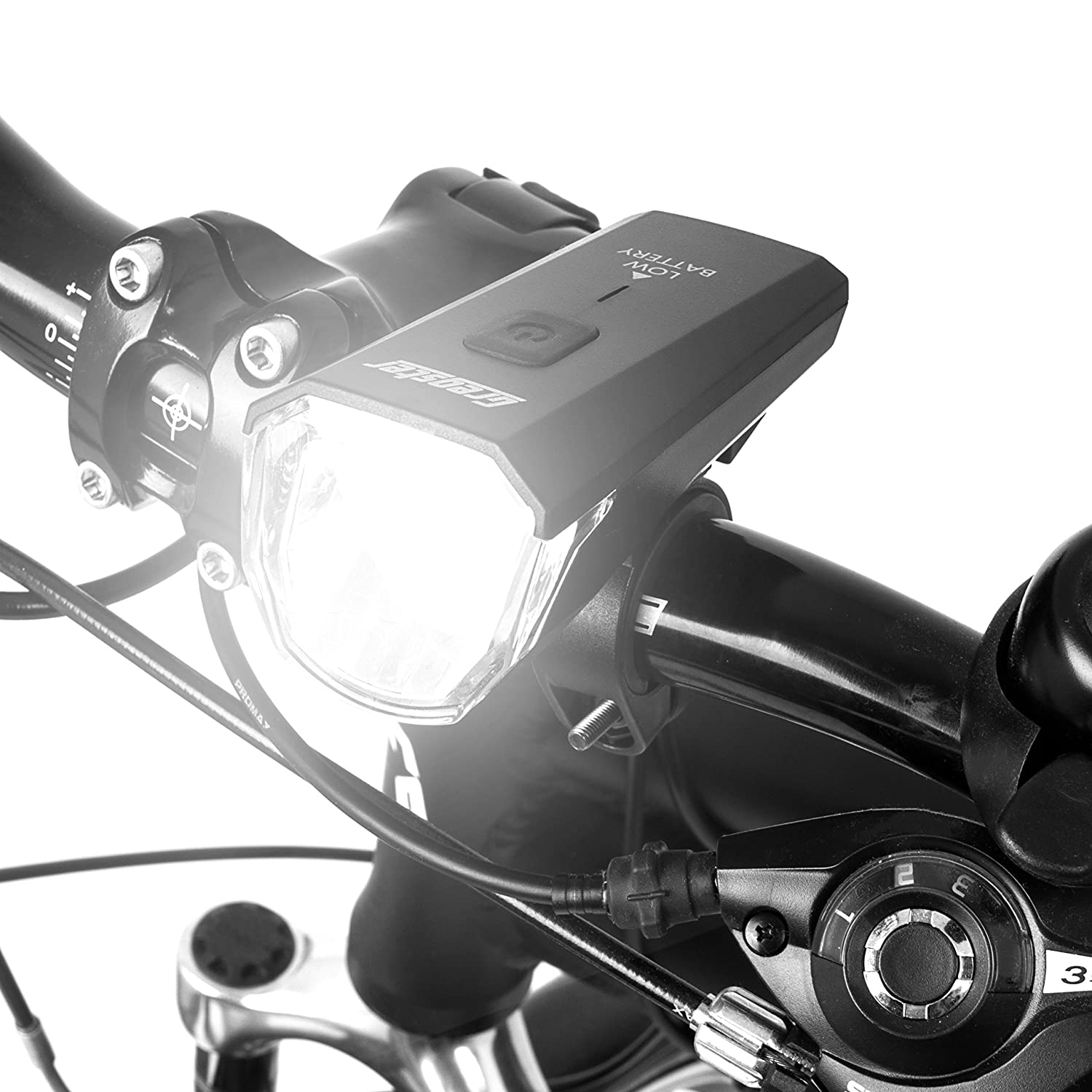 Bike Lights Front and Rear with Mountain Bracket Bright Cycle Lights for Optimum Visibility Gregster LED Bicycle Lights Set with USB Charger