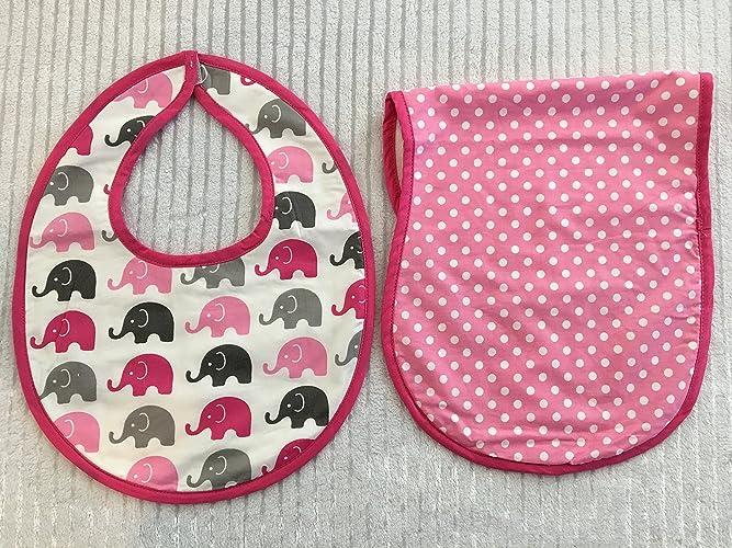 Amazon elephant bib and burp cloth set baby shower gift elephant bib and burp cloth set baby shower gift custom baby gift personalized negle Choice Image