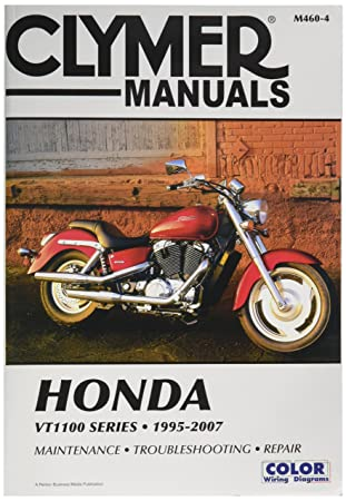 91ZAaZIHKxL._SY450_ amazon com clymer repair manual for honda vt1100 vt 1100 series 1999 honda shadow 1100 wiring diagram at edmiracle.co