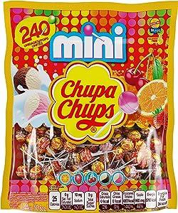 Chupa Chups Mini Lollipops Bulk Candy Suckers for Kids, Cremosa Ice Cream