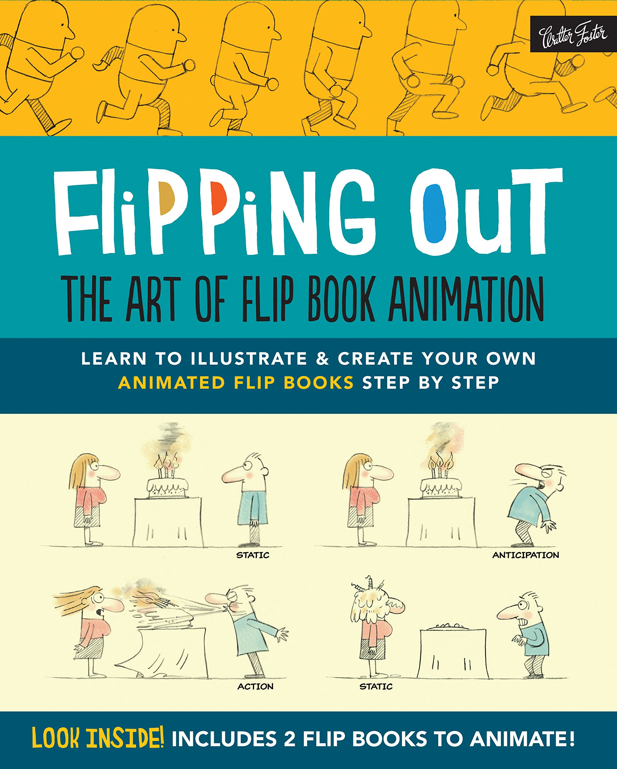 flipping out the art of flip book animation learn to illustrate create your own animated flip books step by step david hurtado 9781633220713