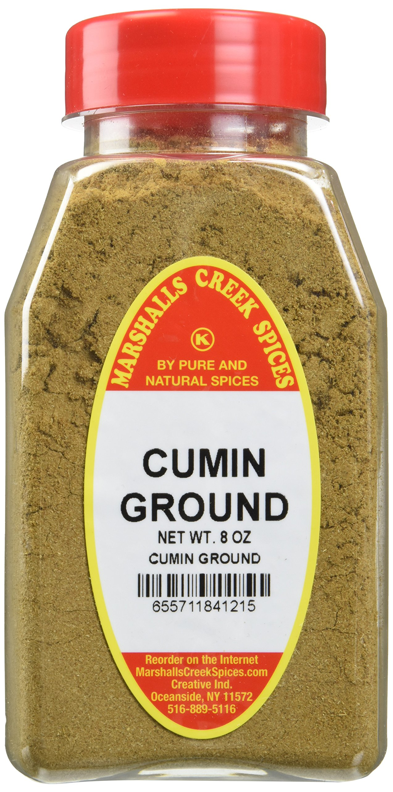 CUMIN GROUND FRESHLY PACKED IN LARGE JARS, comino, spices, herbs, seasonings, 8 ounce