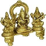 Hindu God Ganesha and Goddesses Lakshmi and Saraswati for Puja Diwali Décor