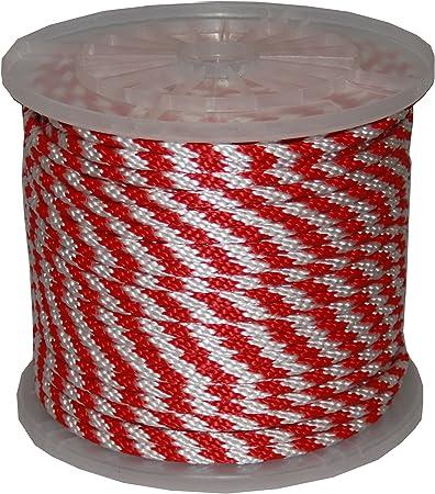 Black T.W Evans Cordage Co. T.W Evans Cordage 98018 5//8-Inch by 200-Feet Solid Braid Propylene Multifilament Derby Rope