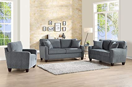 Amazon.com: Esofastore Classic Look Simple Lovely 3pc Sofa ...