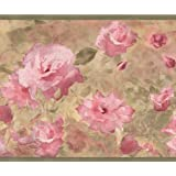 Hot pink roses beige floral wallpaper border retro design roll 15 pink wild roses floral wallpaper border retro design roll 15 x 7 mightylinksfo