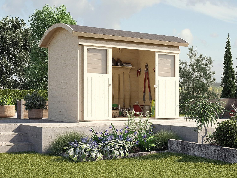 Weka Gartenhaus 228 natur 21 mm