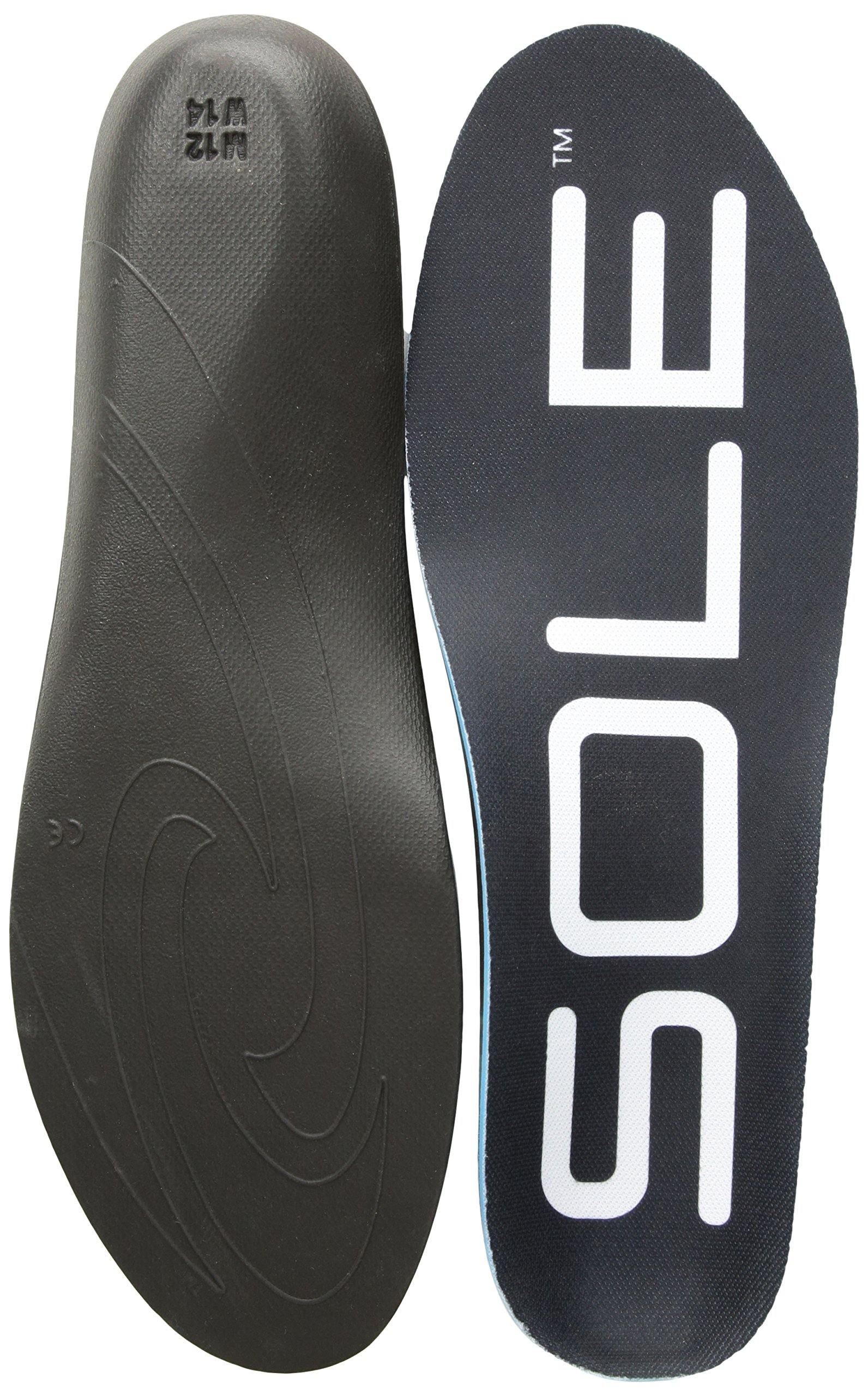 SOLE Regular Width Shoe Insoles Black Mens Size 16 / Womens Size 18 by SOLE (Image #1)