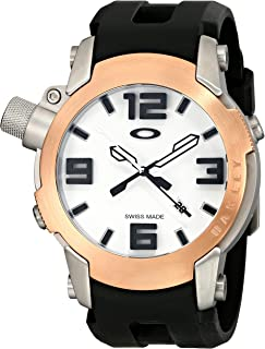 91ZAnyDQLyL._AC_UL320_SR242320_ amazon com oakley men's 26 301 swiss quartz stainless steel watch oakley fuse box watch at reclaimingppi.co