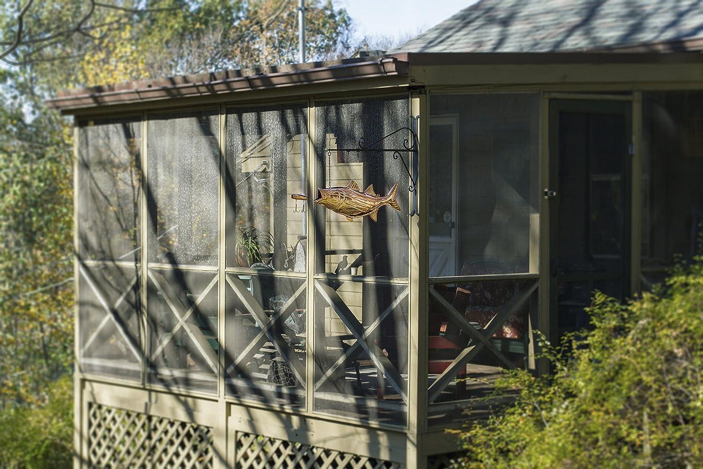 Buenas direcciones, Inc. (gp2z0) forma de gallo para colgar graves con señuelo de pura forma de gallo señal con soporte de pared de desplazamiento ...