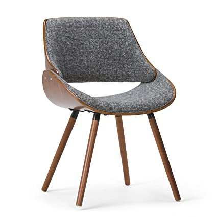 Simpli Home Lowell Bentwood Dining Chair, Charcoal Grey