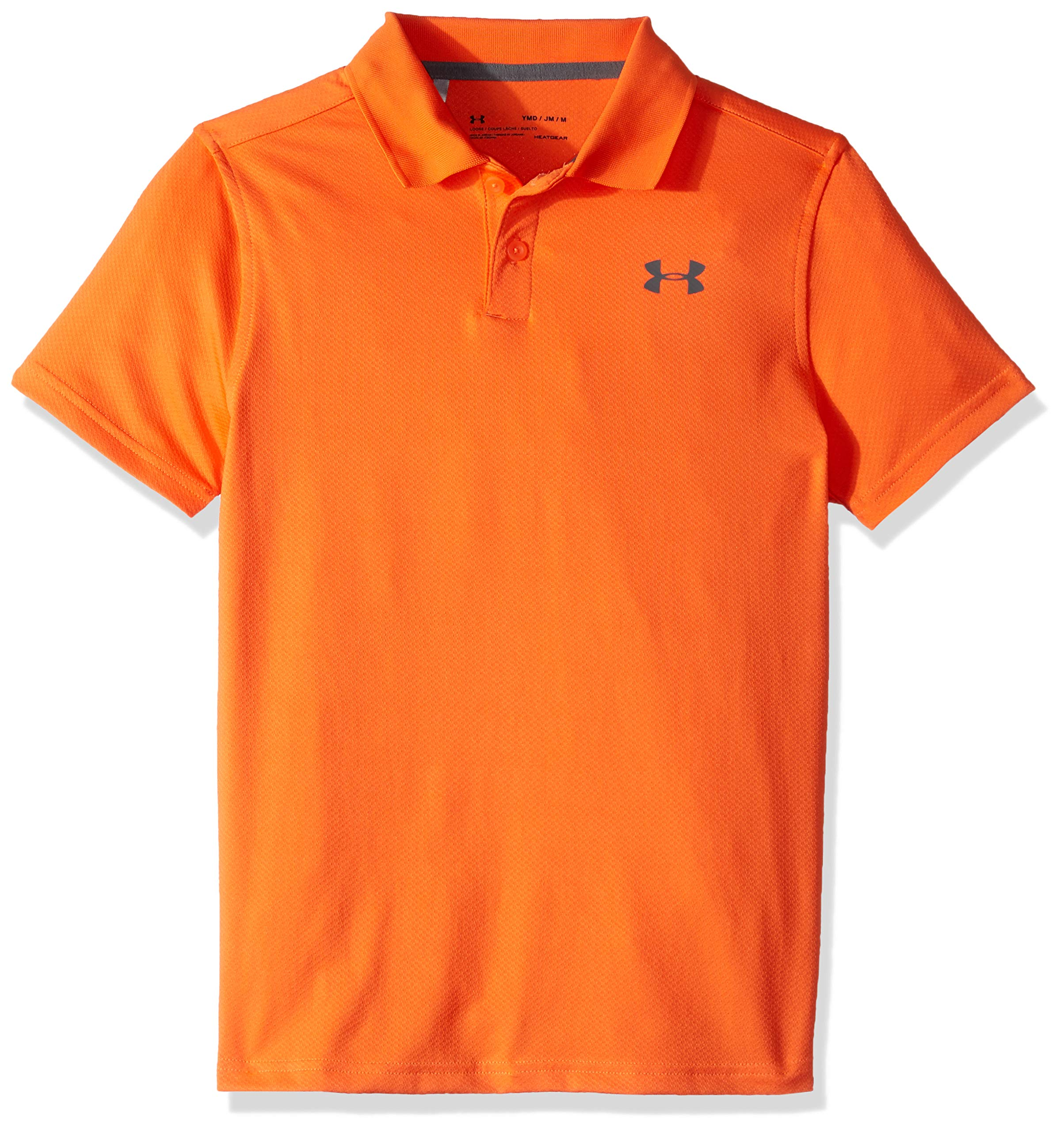 Under Armour Performance Polo 2.0, Papaya//Pitch Gray, Youth X-Small