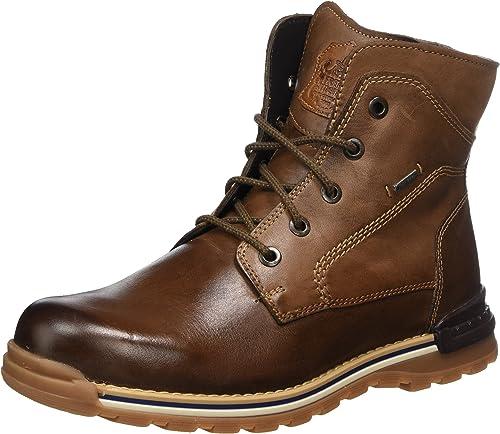 Fretz Men Cooper Kurzschaft Winter Winter Boots, GORE TEX Winterschuhe Herren, rutschfeste Profil Sohle, edles Rindleder, 100% wasserdicht und warm,