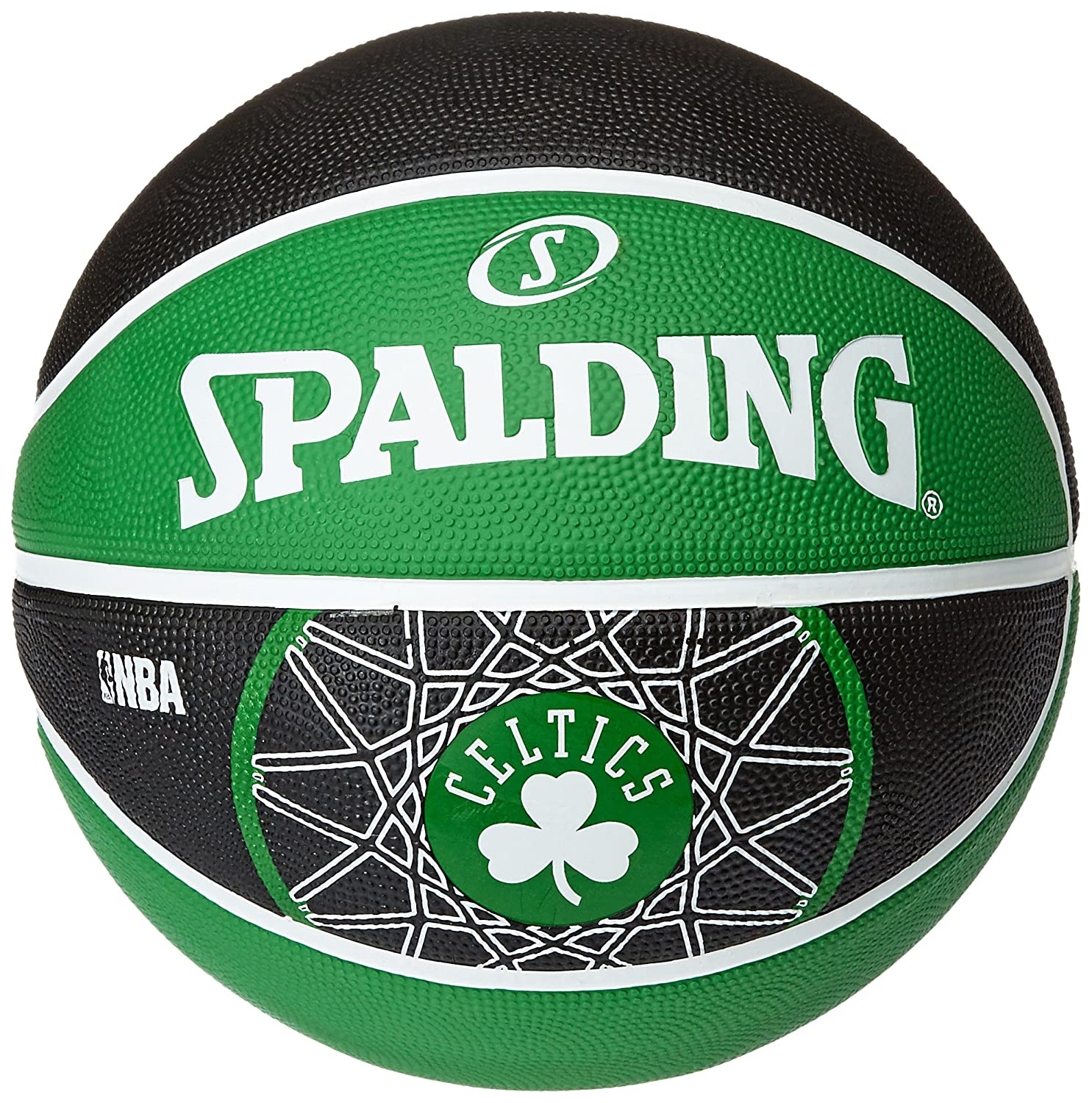 image regarding Boston Celtics Printable Schedule titled Spalding Boston Celtics Workers Ball - Multi-Color, Dimension 7