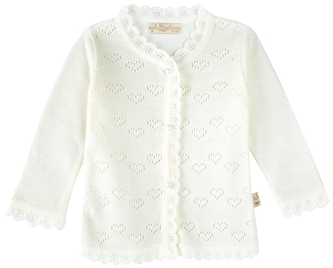 Amazoncom Lilax Baby Girls Little Hearts Knit Cardigan Sweater