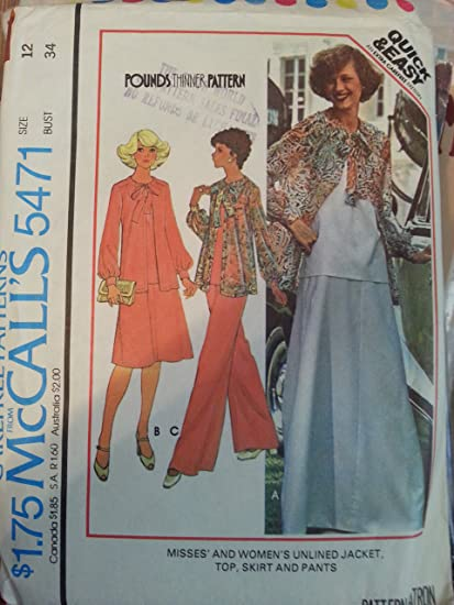 0d2bef2a5012 Amazon.com  McCall s 5471 Misses Skirt