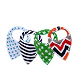 Amazon Price History for:4 Pack Baby Bandana Bibs 100% Absorbent Cotton For Drooling and Teething,Great Baby Gift Set