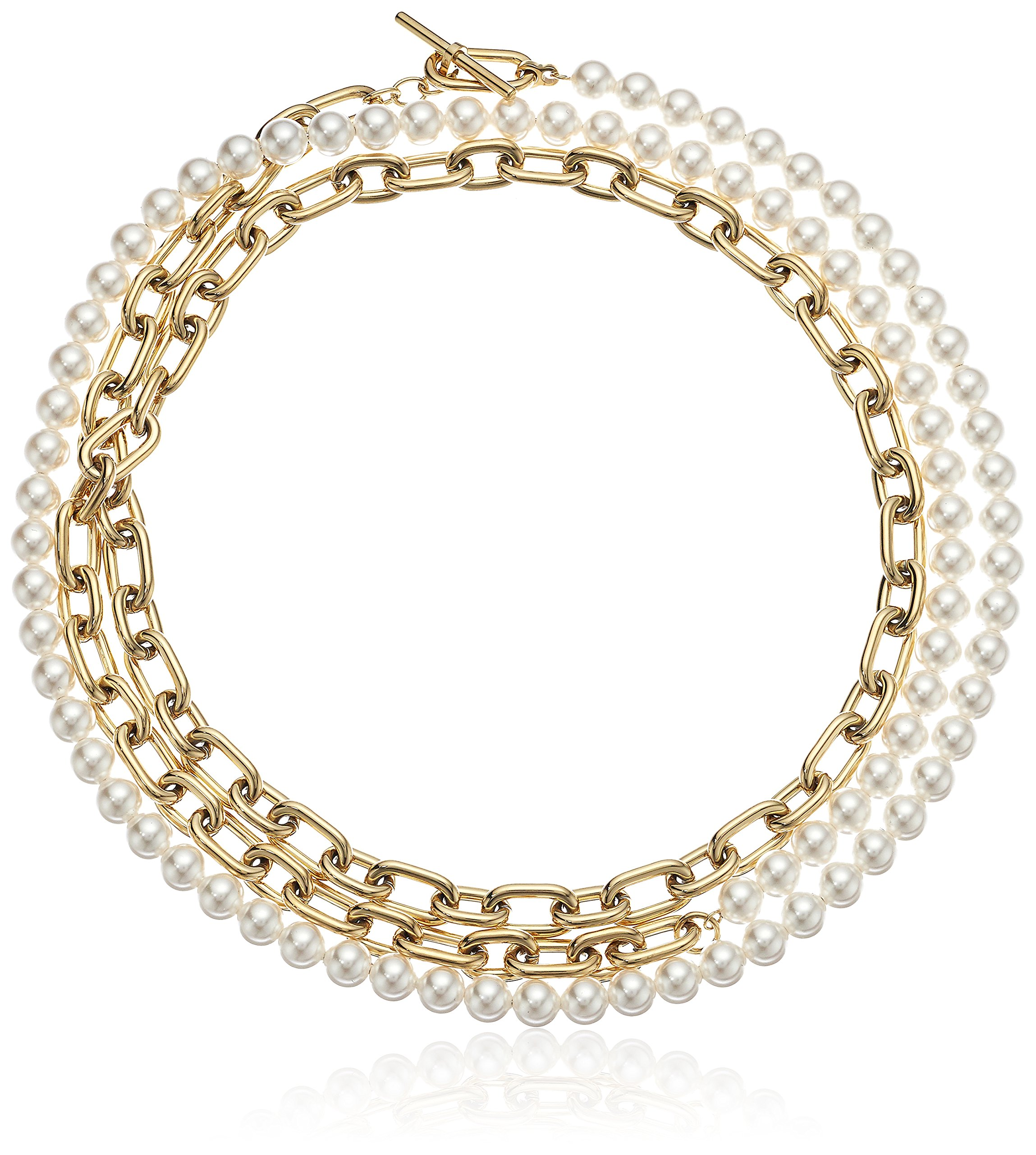 Michael Kors ''Fashion Pearl Links Gold-Tone Choker Pendant Necklace by Michael Kors