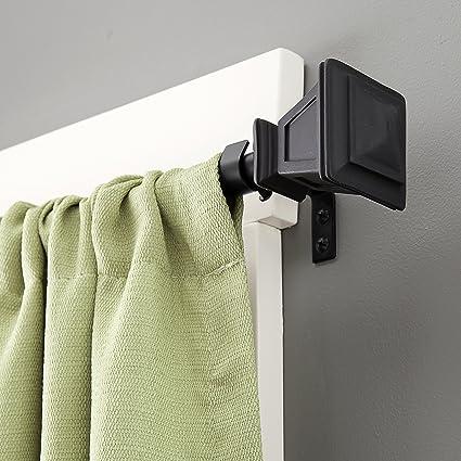Kenney Seville Window Curtain Rod 90 To 130 Inch Matte Black