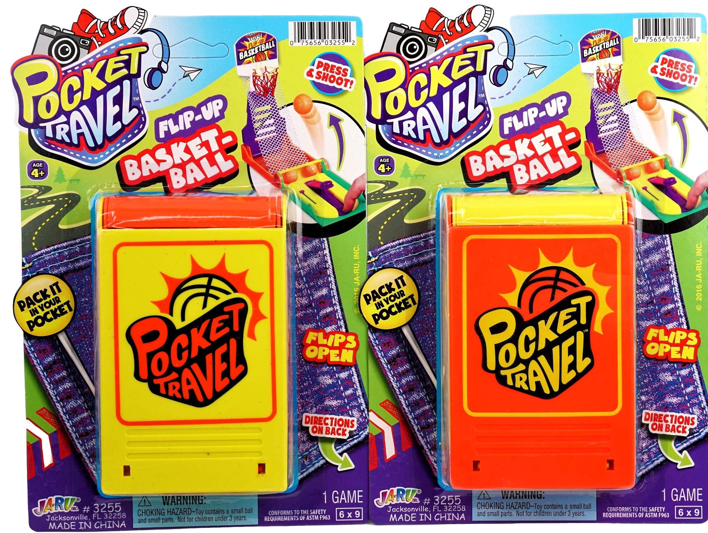 JA-RU Basketball Pocket Travel Game (144 Units) and one Bouncy Ball Item #3255-144p by JA-RU (Image #2)