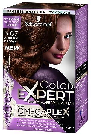 eba47b4aba Schwarzkopf Colour Expert Omegaplex Hair Dye, Number 5.67, Auburn Brown