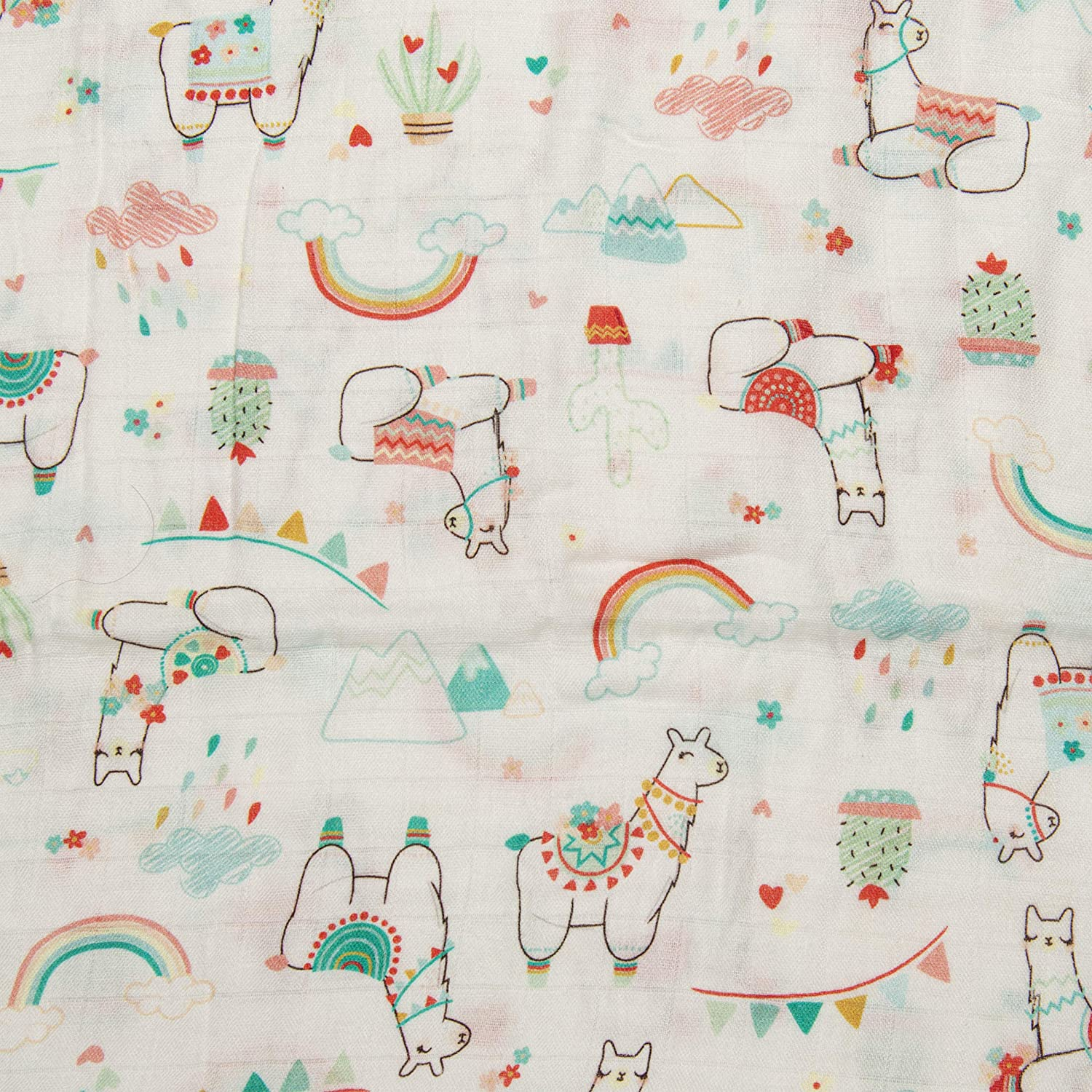 Llama 47 x 47 Baby Swaddle Wrap Blanket for Girls and Boys Best Baby Receiving Blanket Loulou LOLLIPOP Soft Muslin Swaddle Blanket