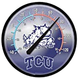 NCAA Texas Christian Horned Frogs Round Thermometer