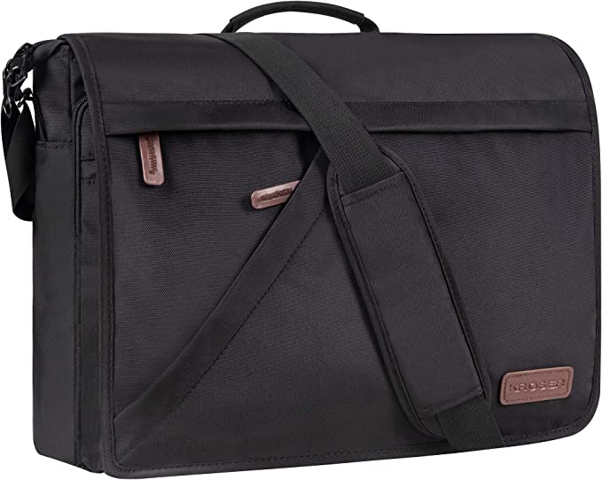 KROSER Laptop Bag 15.6 Inch Briefcase Shoulder Messenger Water Repellent...