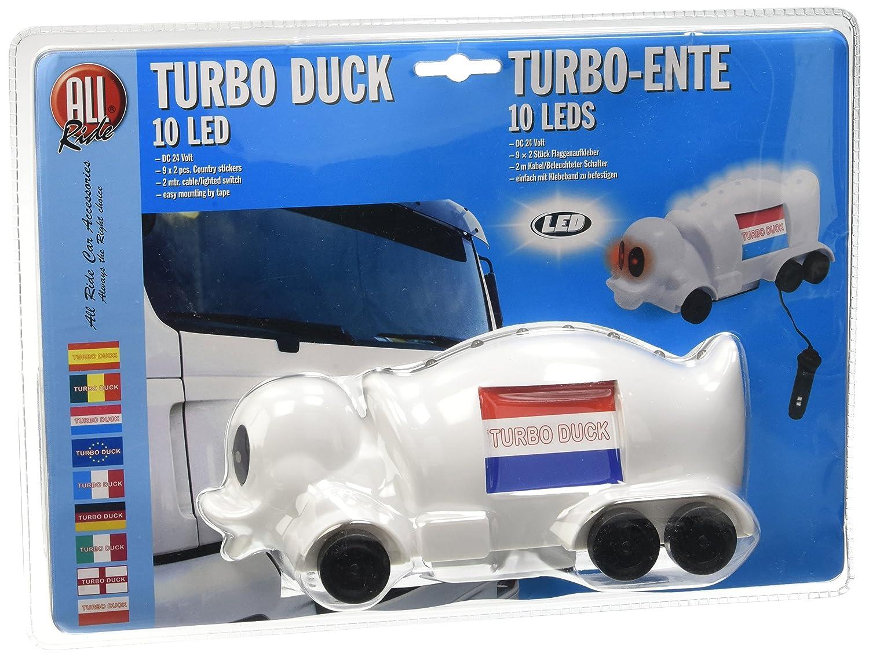 All Ride Turbo Pato 24 V, con iluminación y bandera: Amazon.es: Coche y moto