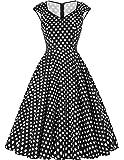 GRACE KARIN Women's 50s Vintage Rockabilly Dress Party Dress Summer Dress