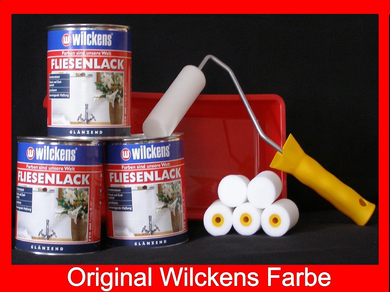 Wilckens Fliesenlack, weiß, 750 ml 11992000050: Amazon.de: Baumarkt