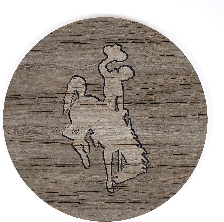 P. Graham Dunn University of Wyoming NCAA Team Logo 17 x 17 Wood Barrel Top Sign