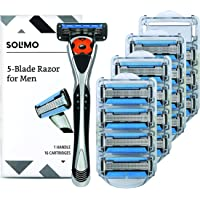 Solimo 5-Blade MotionSphere Razor for Men w/Trimmer