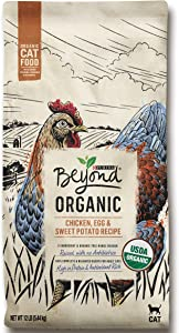 Purina Beyond High Protein Adult Dry Cat Food, Organic Chicken, Egg & Sweet Potato Recipe - 12 lb. Bag